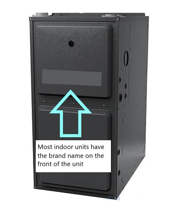Indoor HVAC brand finder with text