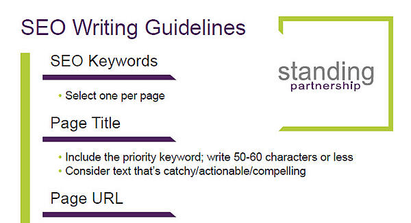 SEO Writing Guidelines One-Sheet